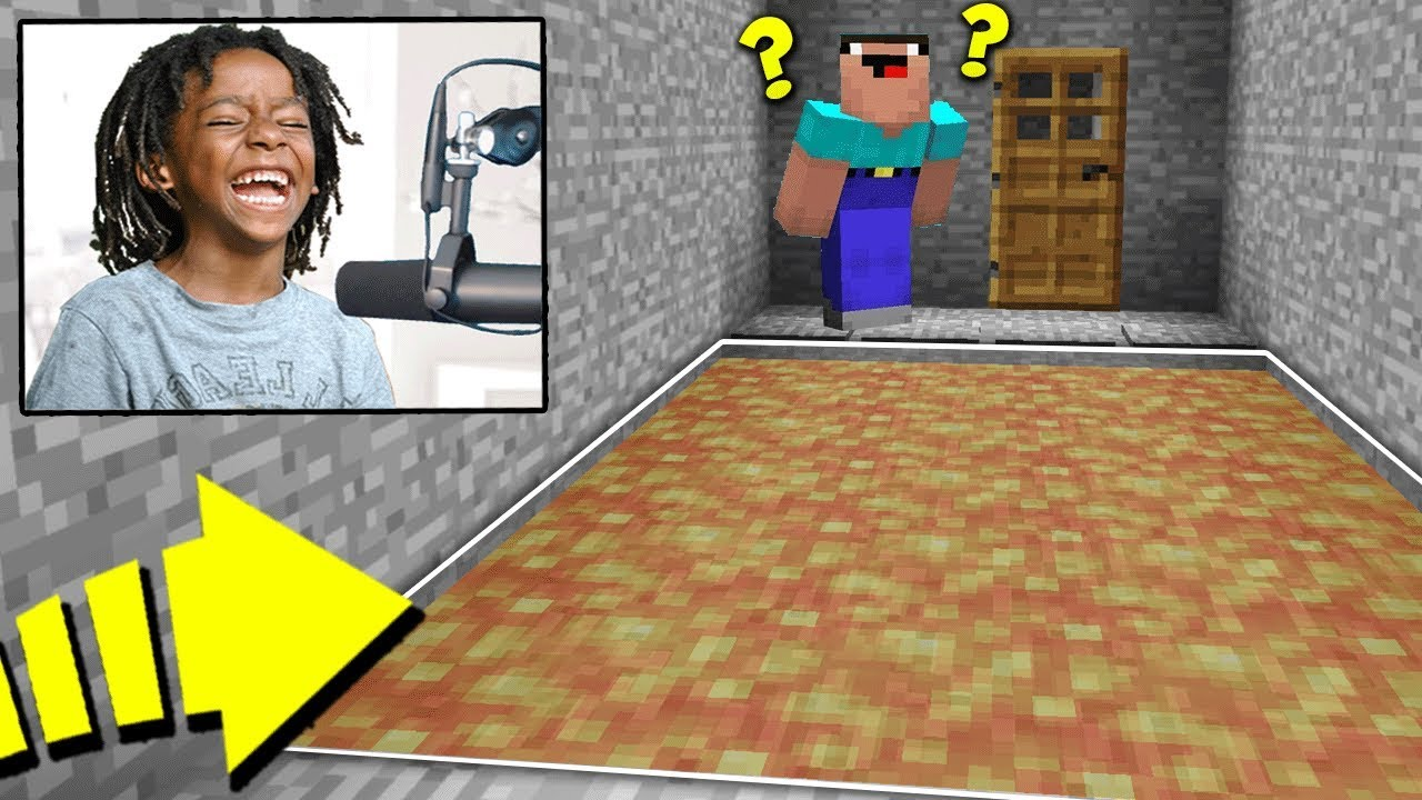 KID FINDS *NEW* HILARIOUS TRAP TO KILL MINECRAFT NOOBS! (LIVE REACTIONS)   FACTIONS #396