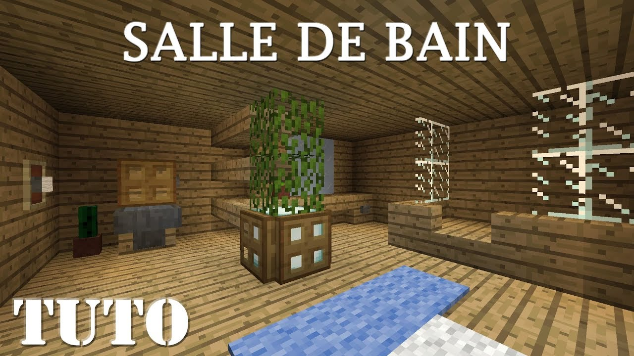 MINECRAFT - Comment faire une belle salle de bain (ps4) - YouTube