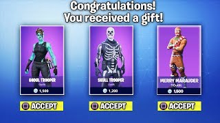 How To Get SKULL TROOPER And RARE Fortnite Skins For Free! *NEW* GIFTING SYSTEM Update in Fortnite!