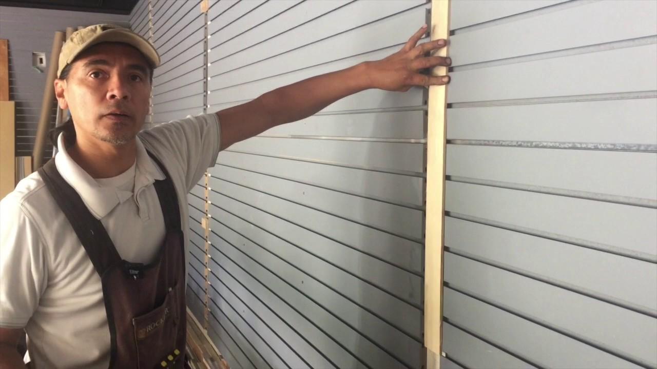 Armando Garate Use Erfly Anchors To Secure Slat Wall Board In John Teng S Garage