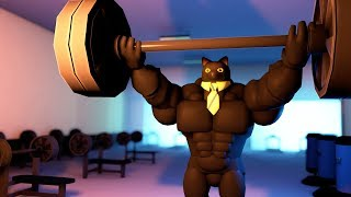 Roblox Animation - SIR MEOWS A LOT GOES TO THE GYM!