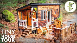 Pocket-sized Tiny House With Main Floor Capsule Bedroom | Full Tour
