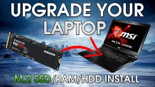 How To Install An SSD Into Your Gaming Laptop | M.2 SSD/ Hard Drive/ 2.5
