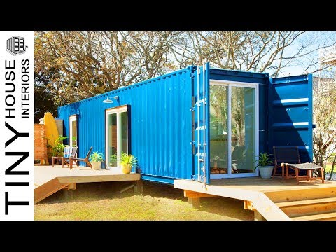 Amazing Modern Beach Container Home in Carolina Beach | Tiny House Interiors