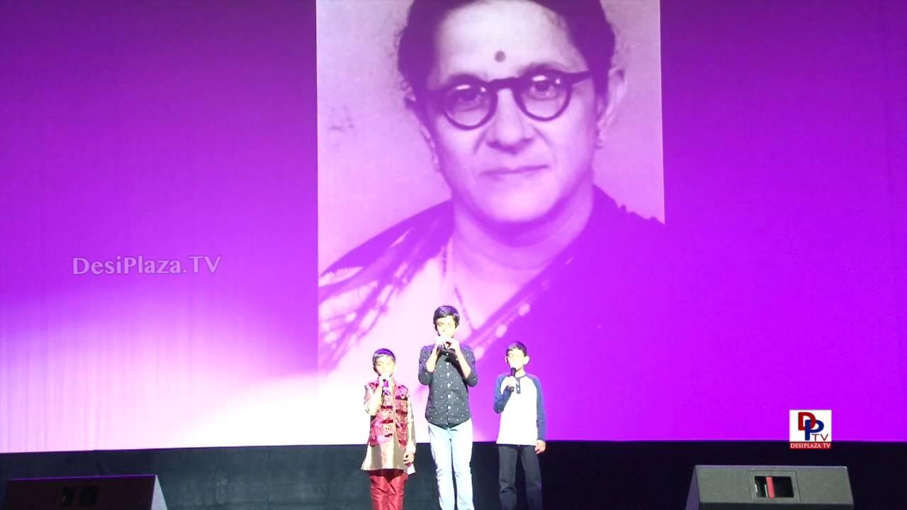 Manjula Gururaj students singing at 9th AKKA World Kannada Conference
