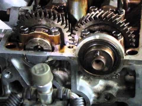 1996 Corolla Engine rebuild aligning camshaft timing marks on vehicle  YouTube