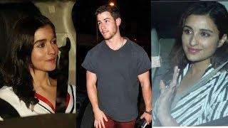 Wow : Alia Bhatt and Parineeti Chopra met their new Jiju Nick Jonas aka Priyanka's bf