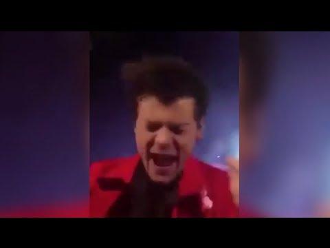 Harry Styles Manoseado por Fan en Pleno Concierto
