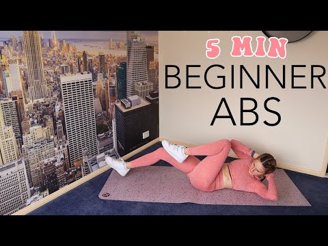 5 MIN BEGINNER AB WORKOUT // At Home No Equipment!