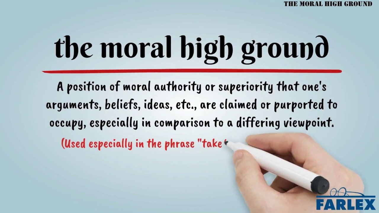Image result for the moral high ground