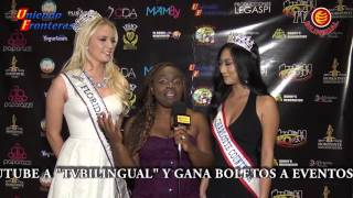 Florida Teen USA and Miss Charlotte Coutny USA witn Uniendo Fronteras