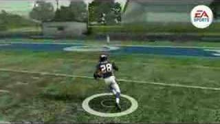Madden 09 20 years of madden Ball Carrier Animation HD