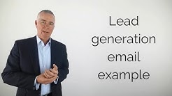 Lead generation email example