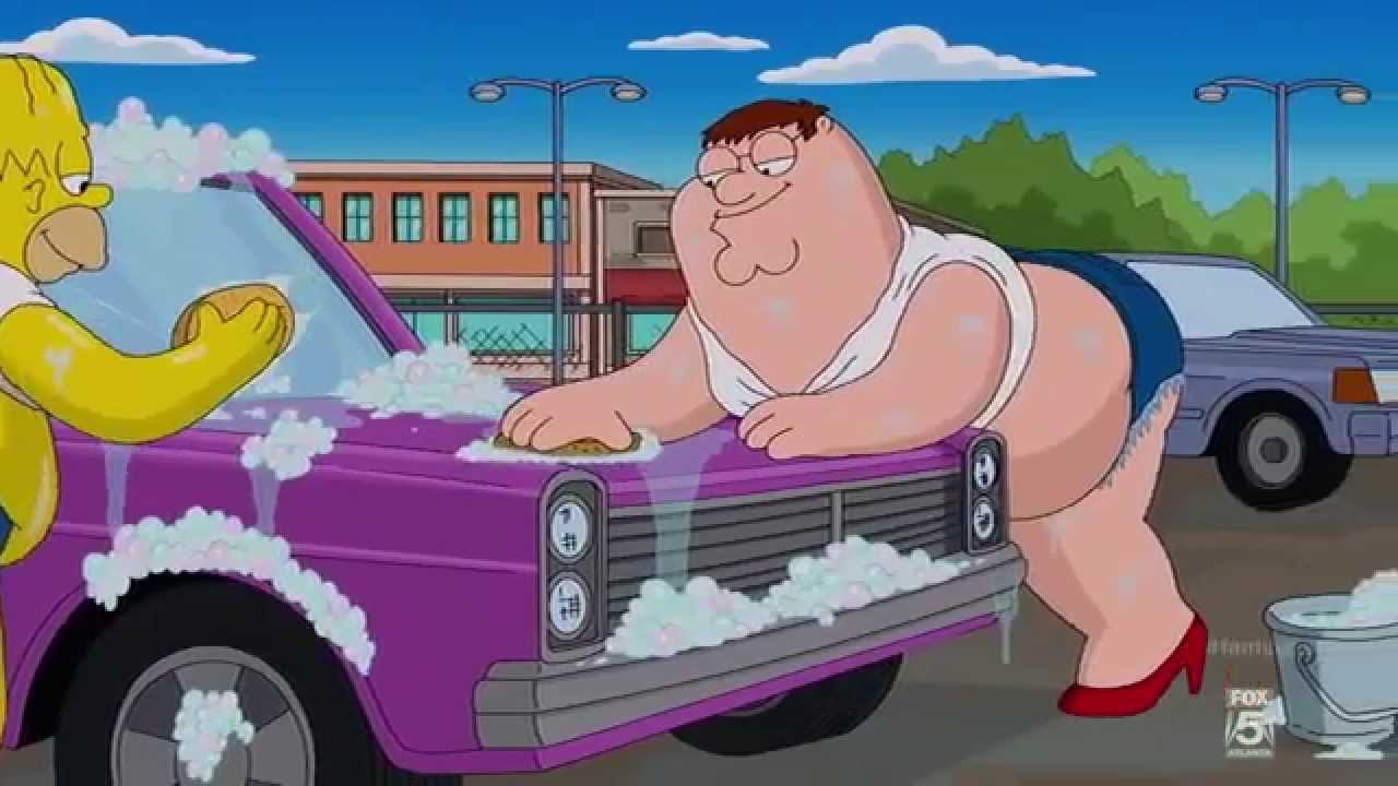 Family Guy And Simpsons Crossover Carwash And Some Farts Youtube