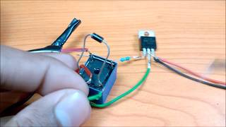Make a simple touch switch to control fan and light   DIY