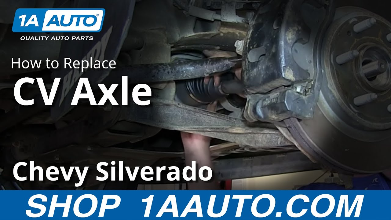 How To Install Replace Front Axle CV Joints 200713 Chevy Silverado GMC Sierra 1500  YouTube