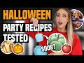 I Tried Viral HALLOWEEN TREATS / PARTY FOOD... were they any good??