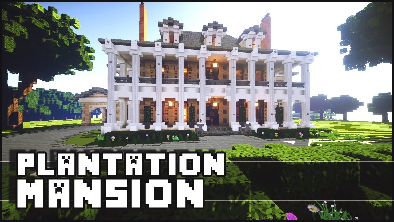 Minecraft - Plantation Mansion on williamsburg brick house, brick colonial house, brick home tx, brick webster house, brick victorian house, brick buildings in winter, brick house golf sc,