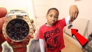 I Bought Him A Fake Rolex For Christmas **PRANK!** ($10,000)