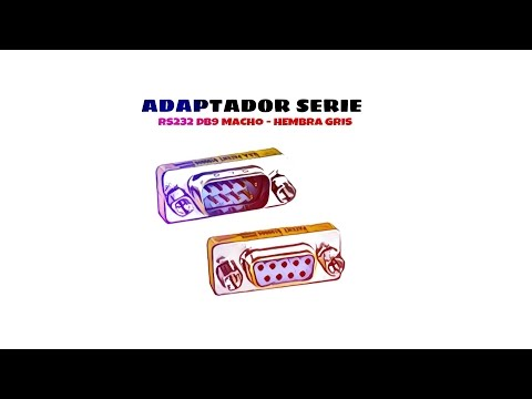 Video de Adaptador serie RS232 DB9 macho-hembra  Gris