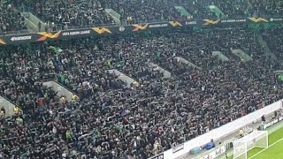 Borussia Mönchengladbach Fans Anthem Before Match Vs Roma