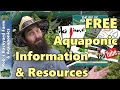 TOTALLY FREE Aquaponic Information & Resources - Great for Beginners