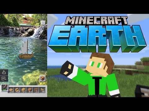 Minecraft Earth Deutsch - Segelboot Im Pool ⛵️ #minecraftearth Early Access