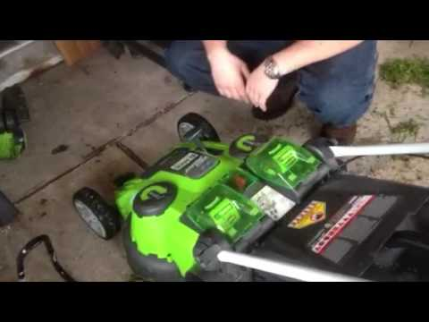 Greenworks trimmer weedmower 21332 25302 electric battery powered cordless