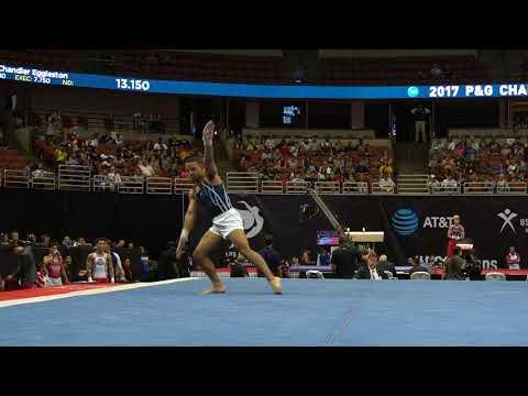 Trevor Howard - Floor Exercise - 2017 P&G Championships - Senior Men - Day 2