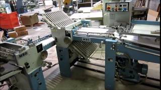 MBO T 49C Continuous Feed Paper Folder with 8pg, Roll away Stacker(Currently Up For Auction on www.WireBids.com., 2015-06-02T17:29:40.000Z)