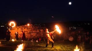 Stella Polaris Ildshow Slottsfjellet Middelalderfestival
