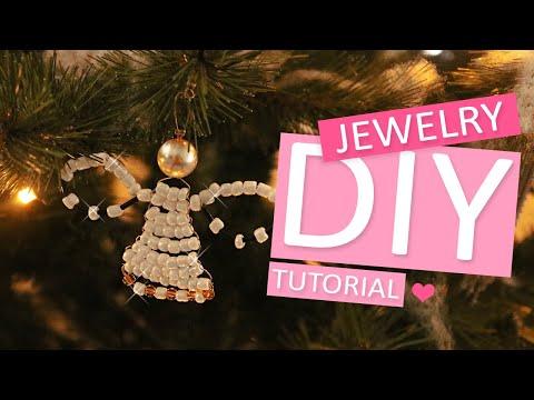 DIY Tutorial - Weihnachtsengel mit Perlen und Artistic Wire - Machen Sie Ihren eigenen Schmuck
