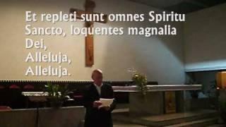 Communio Gregoriano Pentecoste FACTUS EST REPENTE, Studio di Giovanni Vianini