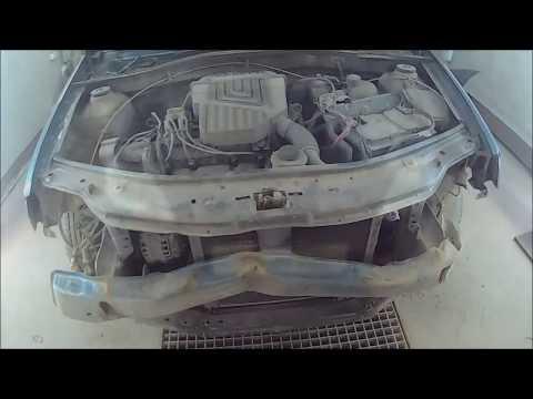 Renault Logan удар в морду супер бюджетный экспресс ремонт