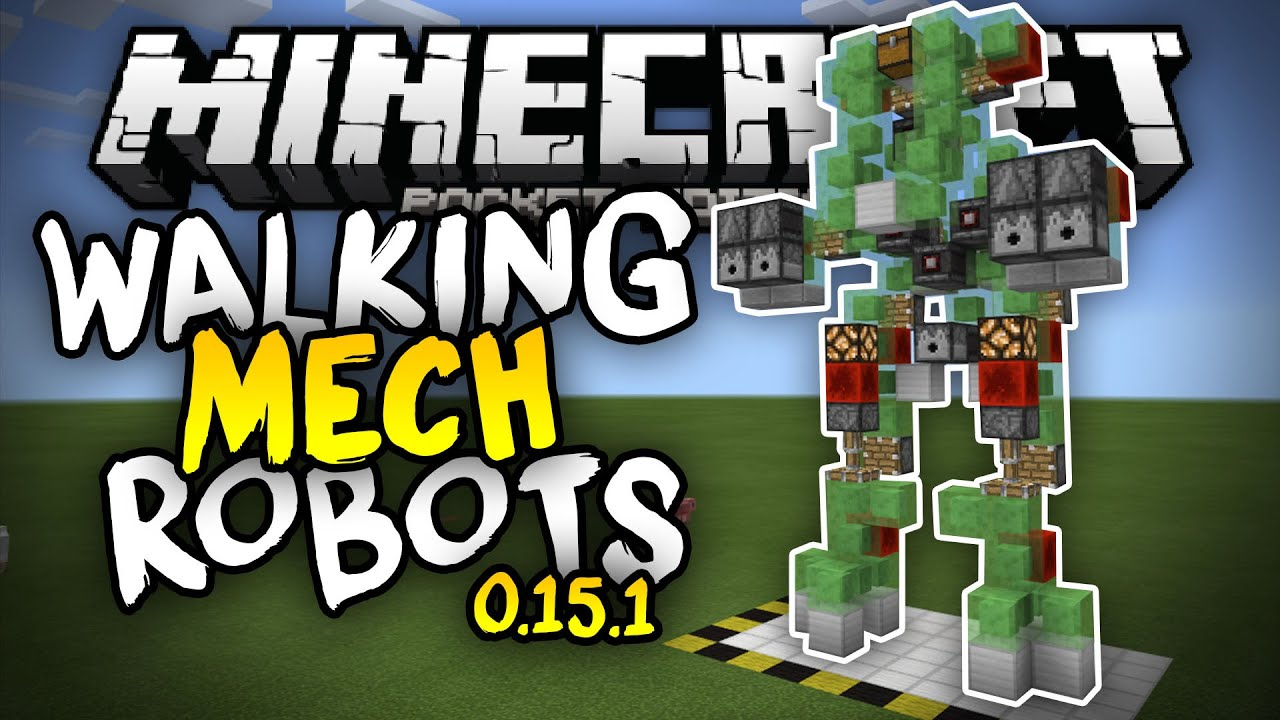 how to build a robot in minecraft pe