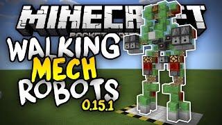 WALKING MECH ROBOTS in MCPE!!! - 3 Slime Block Creations 0.15.0 - Minecraft PE (Pocket Edition)