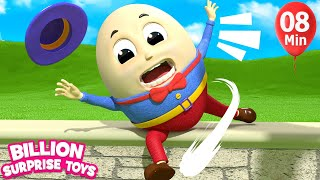 Humpty Dumpty Song 2  |   More Kids Songs | Billion Surprise...