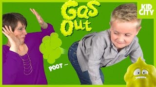 GAS OUT Fart Game! Funny Family Game Time & Disney Blind Bag Surprise Toy by KIDCITY