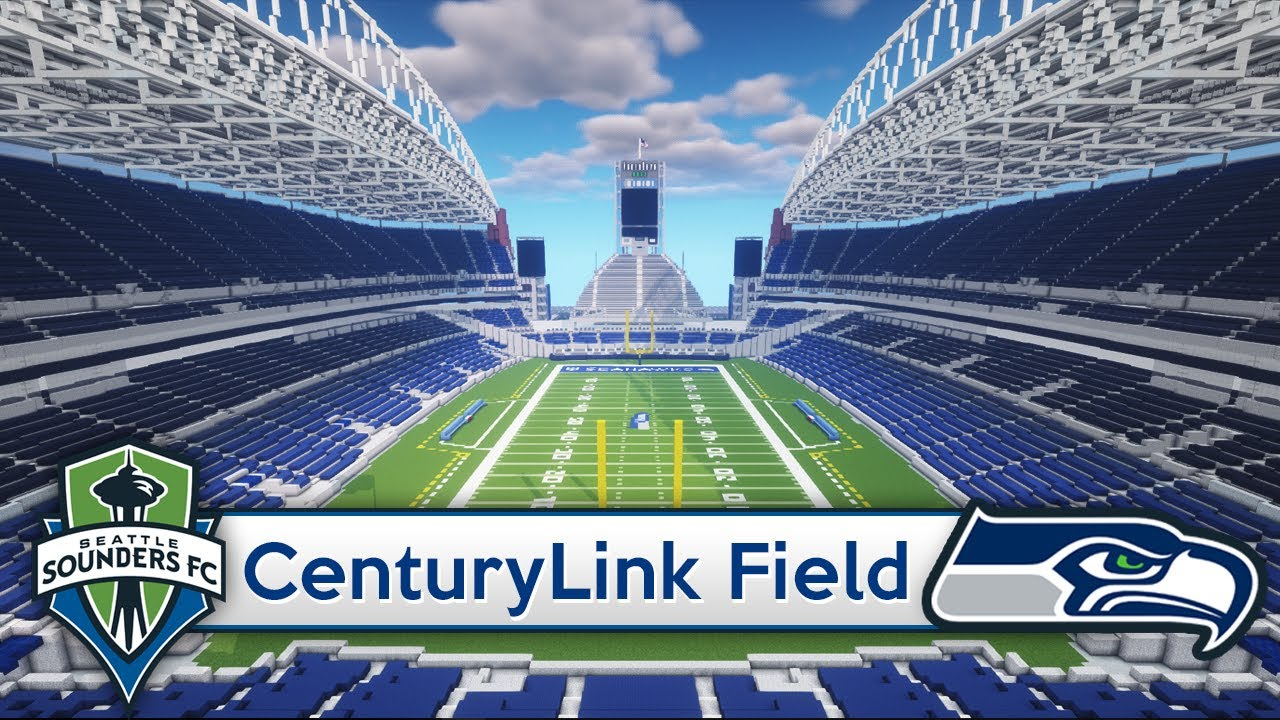 Minecraft Stadium Centurylink Field Seattle Seahawks Sounders Download Official Youtube