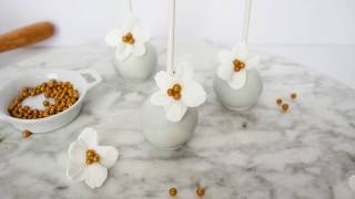 Floral White & Gold Cake Pop Tutorial
