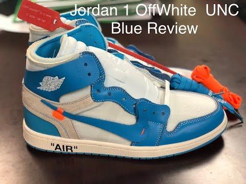 Nike Air Jordan 1 X OffWhite UNC Blue Review PK God