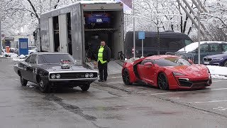 FAKE Lykan Hypersport and more   Fast and Furious Live   Start Ups + Revs + Drifts   Munich