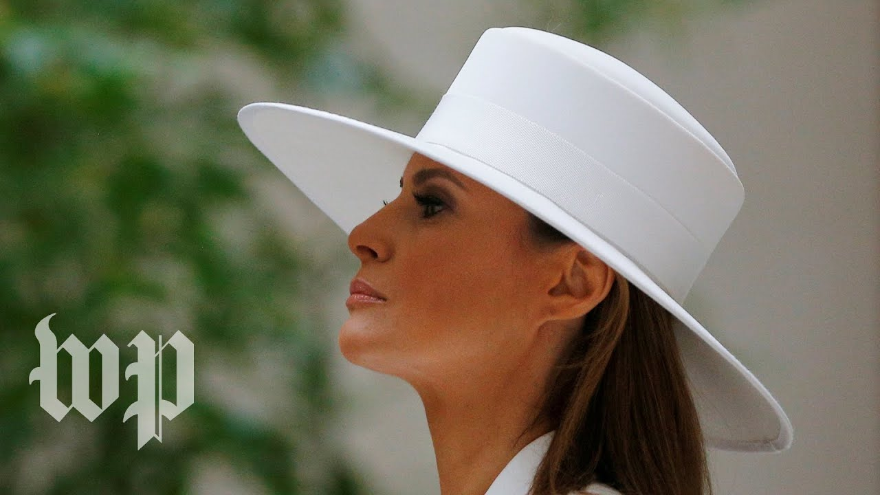 e7e975a8df7 Melania Trump s fashion makes a statement during French visit - YouTube