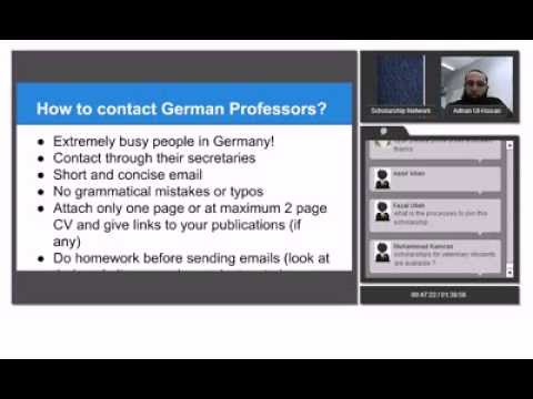 Lecture 4 :Scholarship opportunities in Germany by Adnan ul hassan