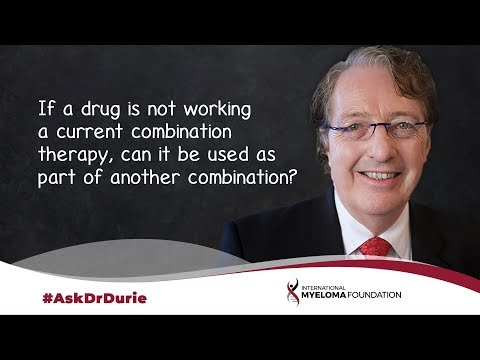 If a drug is not working in a current treatment, can it be used in a later combination therapy?