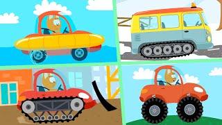 СБОРНИК - Котёнок и волшебный гараж - 10 серий мультфильмы про машинки без перерывов