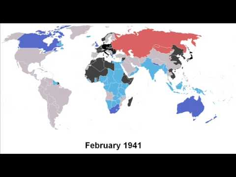 World War II Timelapse Map  YouTube