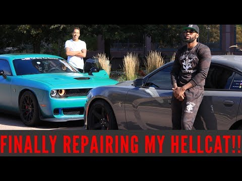 GETTING MY CRASHED HELLCAT FIXED WITH TALLGUYCARREVIEWS