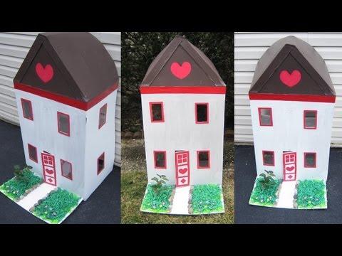 Episodio 565 c mo decorar el exterior de su casita de cart n manualidadesconninos youtube - Como hacer una casa de carton pequena ...