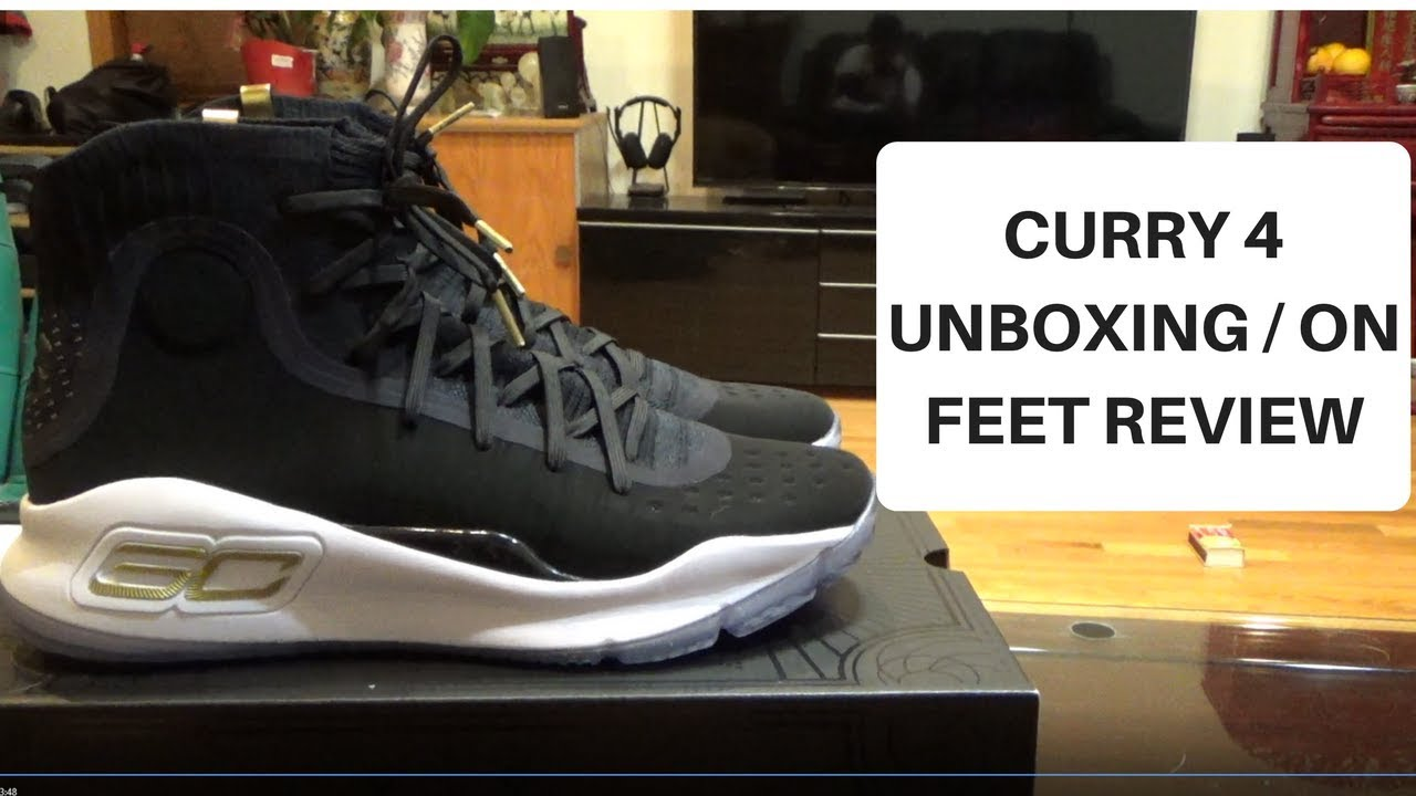 db70cff5196e Under Armour Curry 4 Unboxing   On Feet Review - YouTube